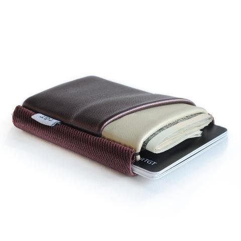 TGT Pearlized Burgundy and Cream Deluxe Wallet