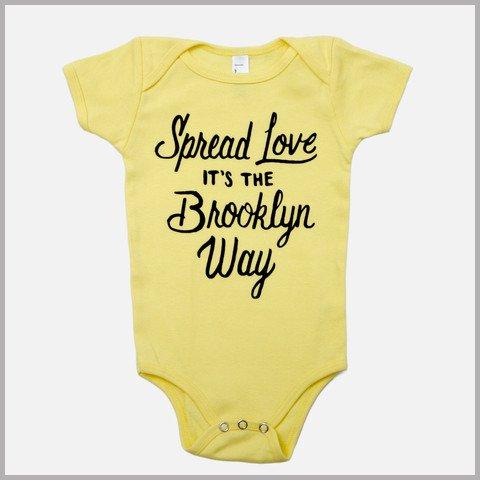Jordanene Yellow Spread the Love Onesie