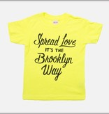 Jordanene Yellow Spread the Love Kids Tee