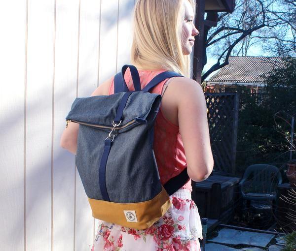 Lady Alamo LA Brightday Backpack Denim Stitch
