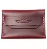 E3 Horween Leather Single Pocket Wallet - Burgundy