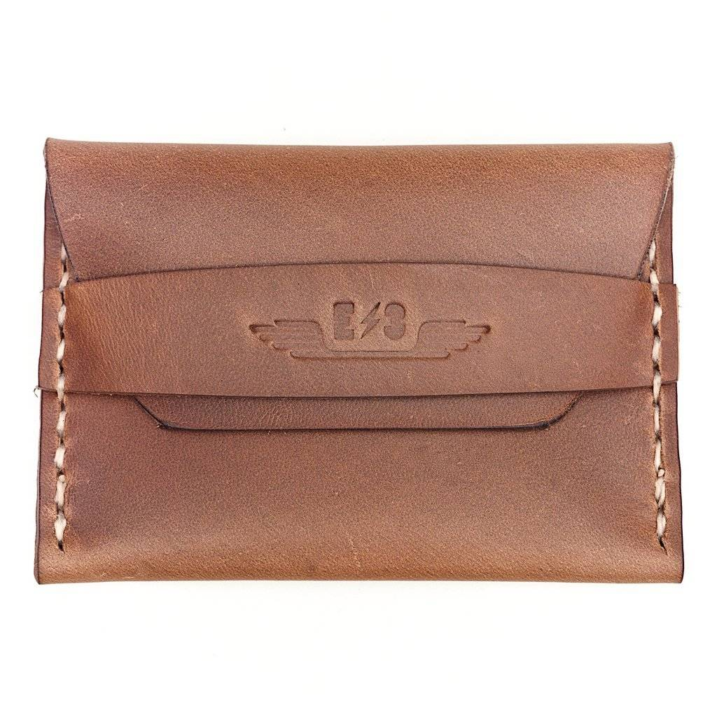 E3 Horween Leather Single Pocket Wallet - Natural