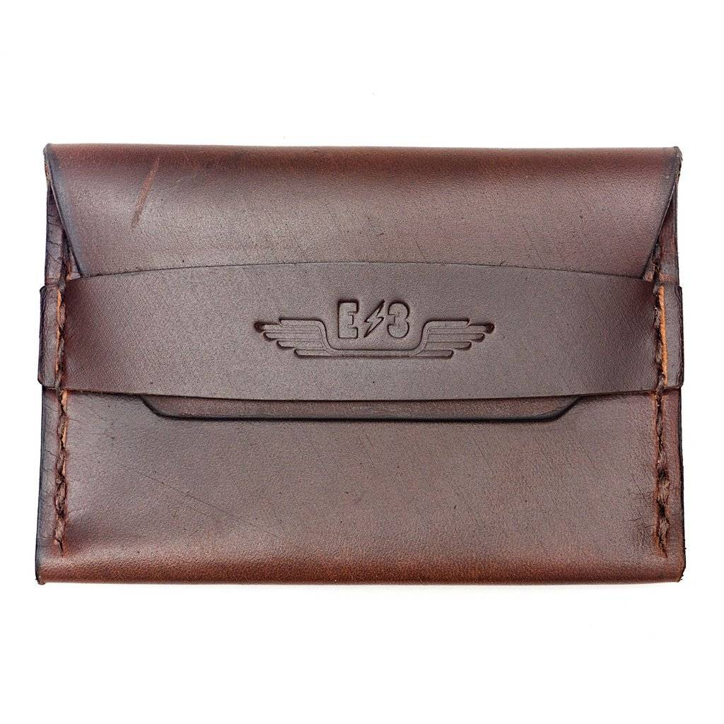 E3 Horween Leather Single Pocket Wallet - Brown