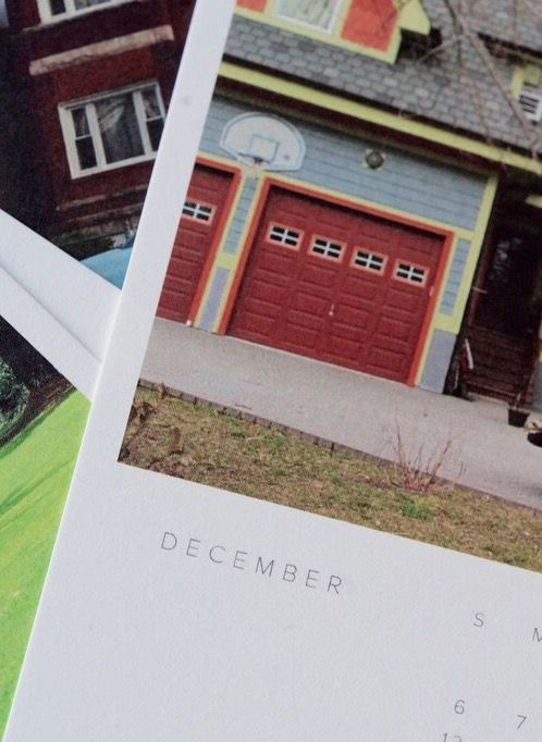 Rob Birdsong Cars in front of houses calendar