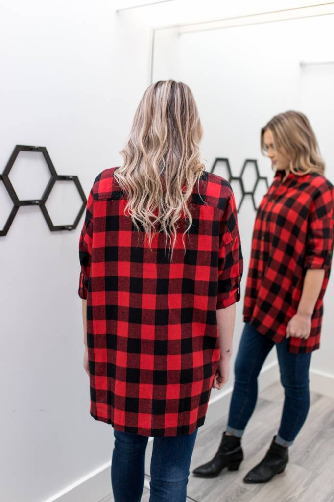 Ash Oversized Flannel