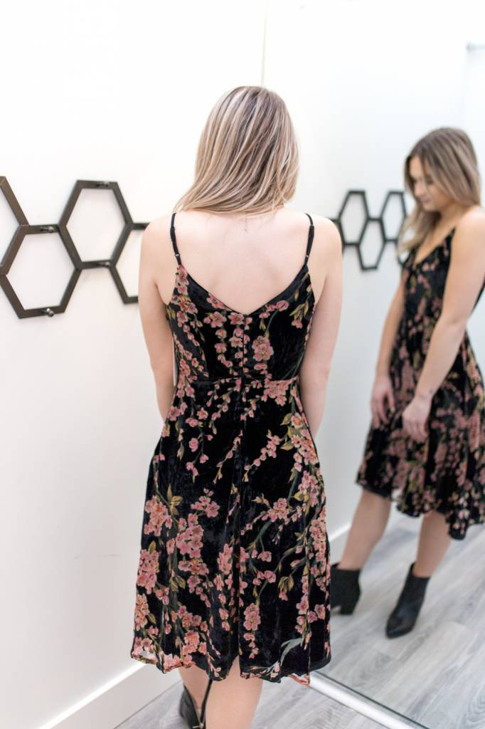 Straight Arrow Burnout Dress