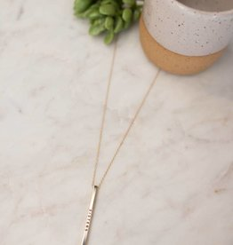 Halo Trading Sisters Bar Necklace