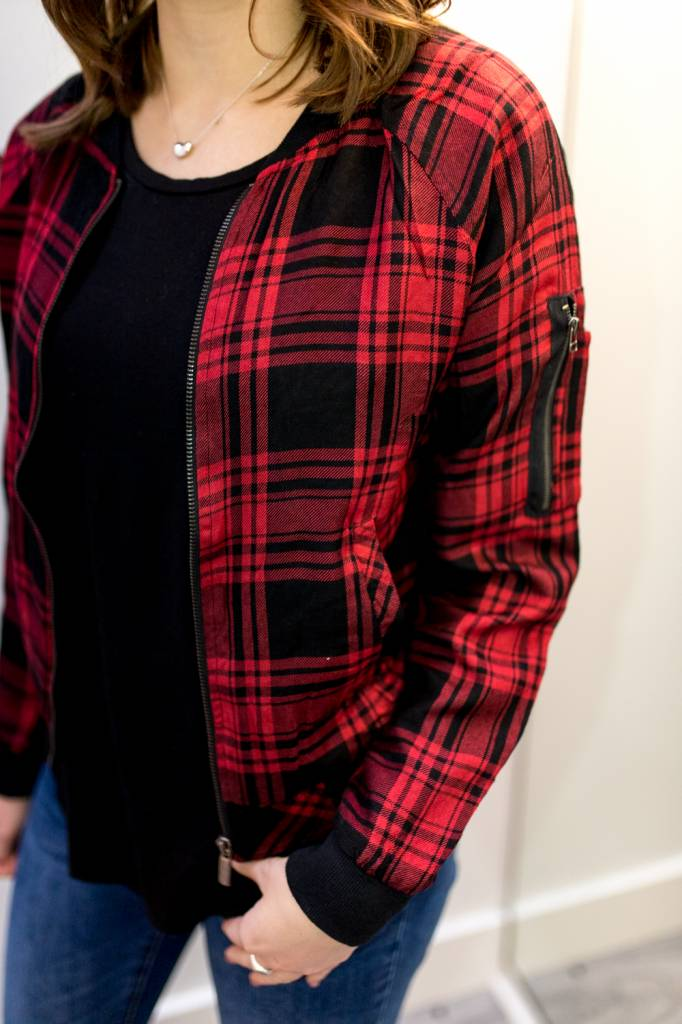 Brixton Plaid Bomber