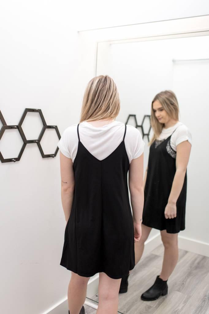 Monochromatic Slip Dress