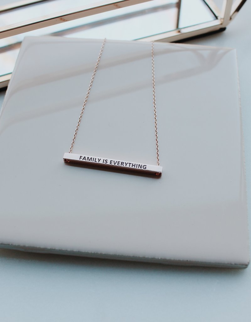 Family Is Everything Bar Necklace