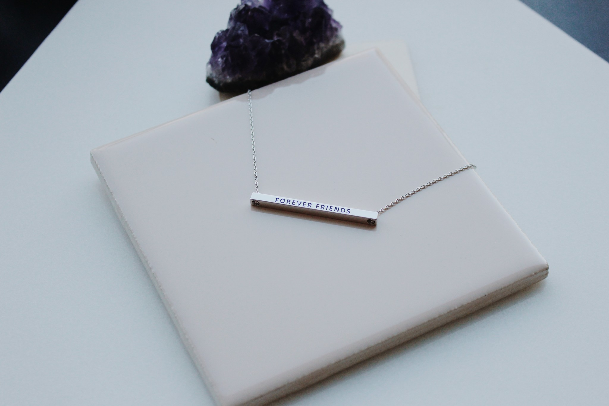Forever Friends Horizontal Necklace