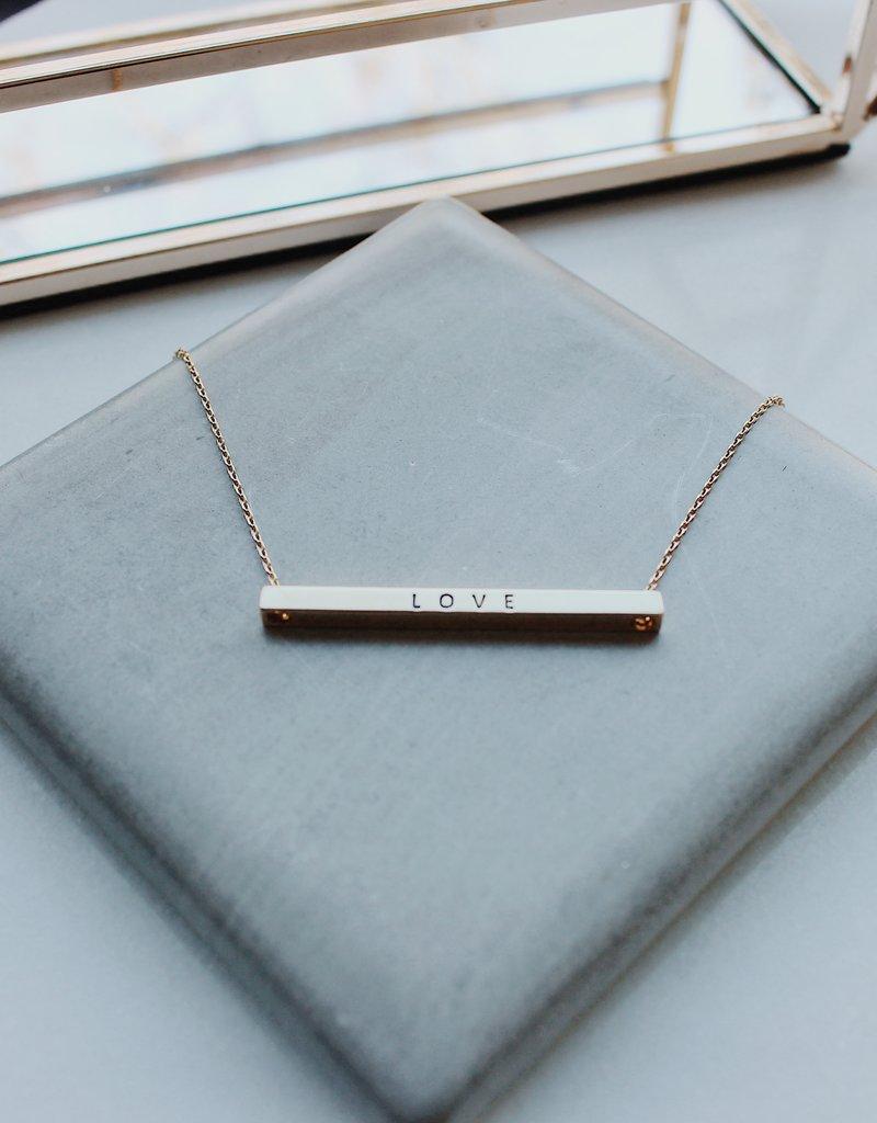 Love Horizontal Bar Necklace