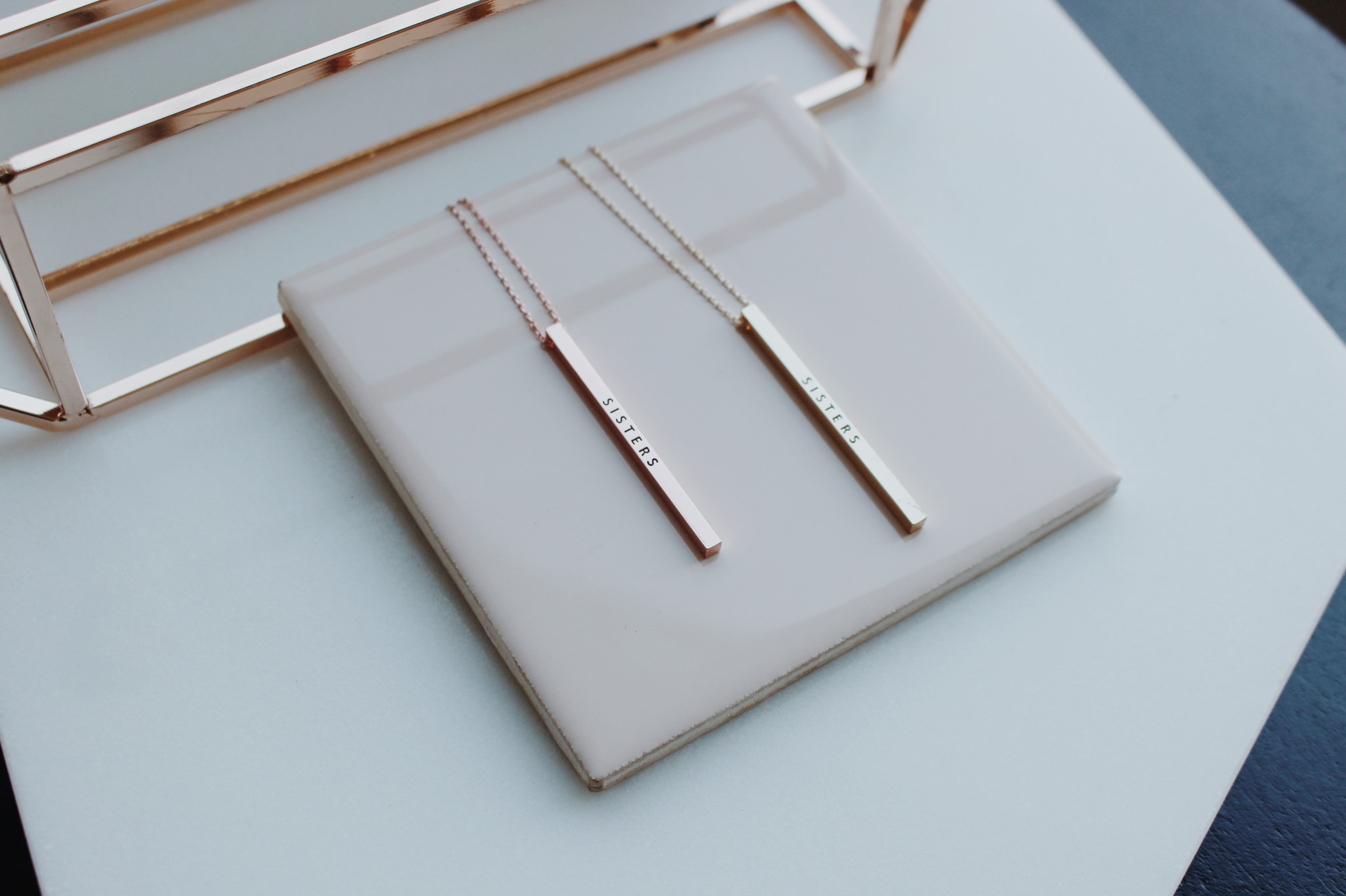 Sisters Vertical Necklace
