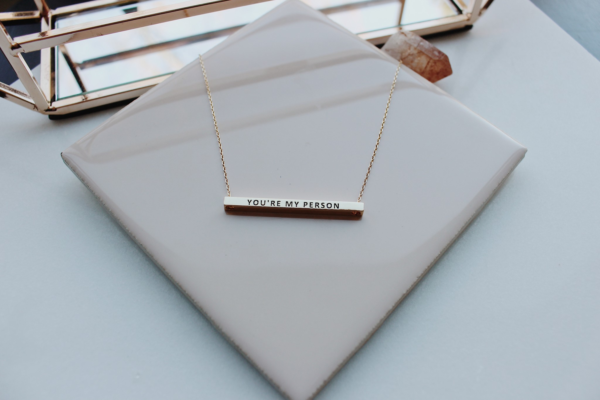 You're My Person Horizontal Necklace