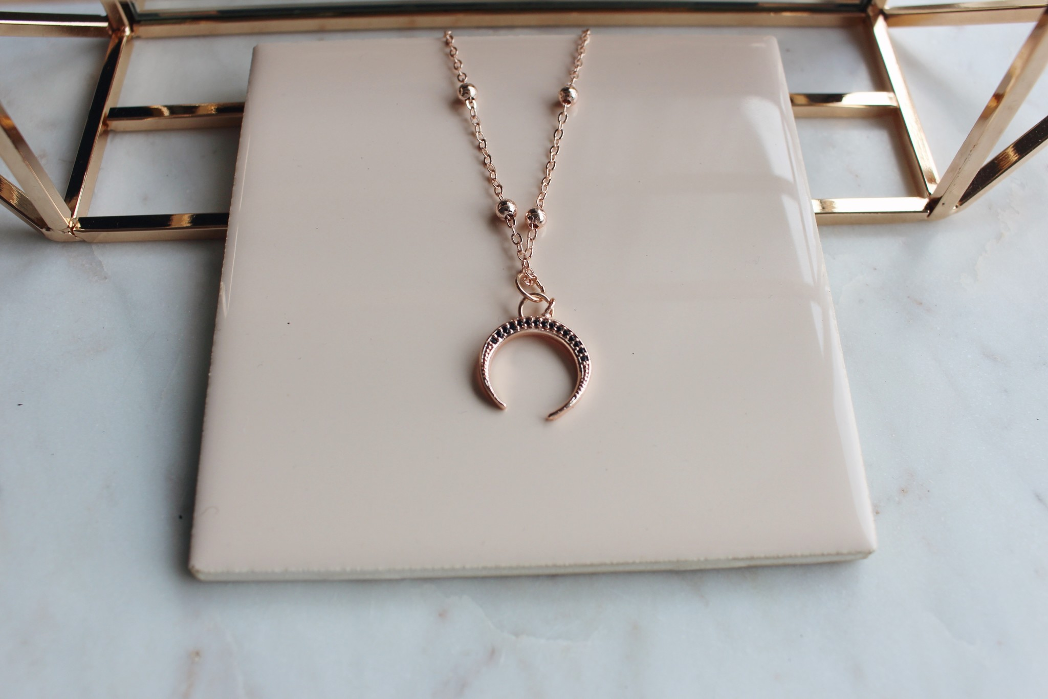 PG - Crescent Charm Necklace