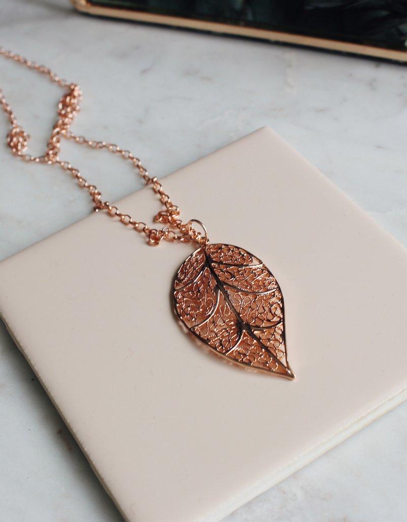 PG - Dogwood Leaf Necklace
