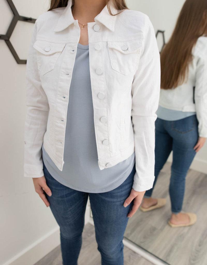 Happier White Denim Jacket
