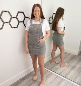 Rockstar Cord Skirt Overall