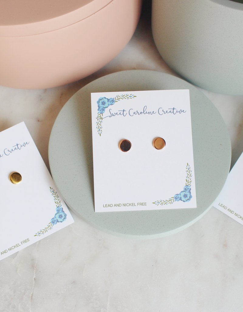 SCC - Solid Circle Earrings