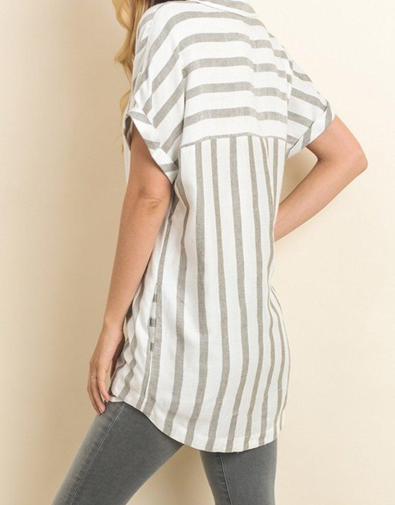 Doris Stripe Woven Top