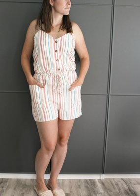 Believer Stripe Romper