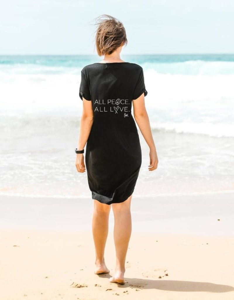 FR - All Peace. All Love Femme Tee Shirt Dress