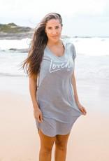 FR - Hey Girl, You Are Loved Femme Tee Shirt Dress