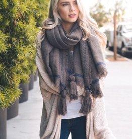 Violet Blanket Scarf