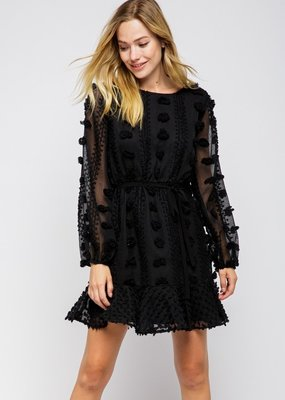 Stella Pom Long Sleeve Dress
