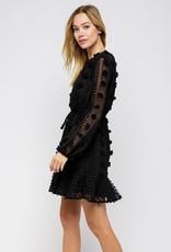 Stella Pom Long Sleeve Dress