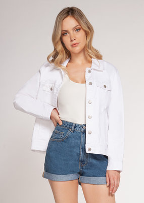 Stardust White Denim Jacket