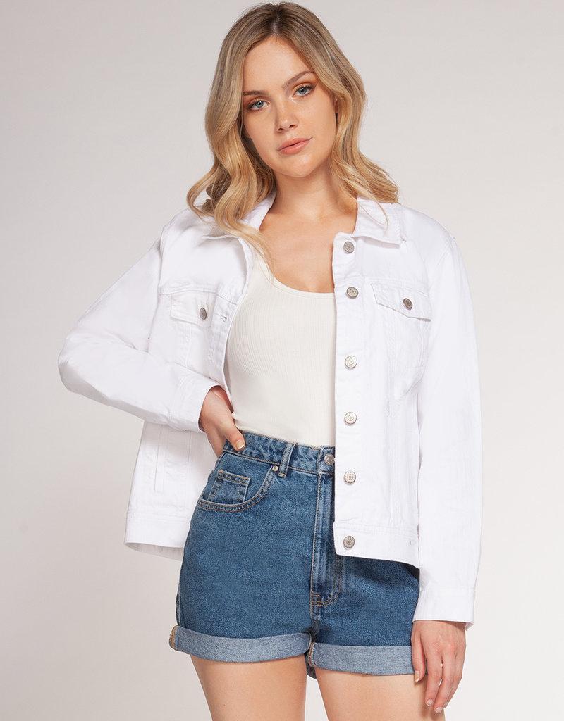 Stardust White Denim Jacket