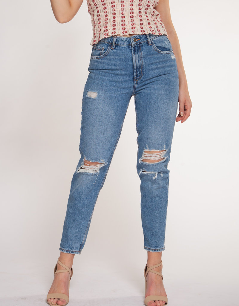 Liv Mom Ripped Jeans