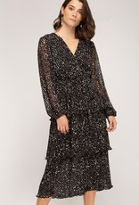 Cheetah Ruffle Dress