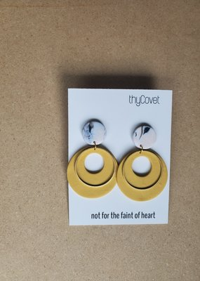 thyCovet TC - Magnify Mustard Clay Earrings