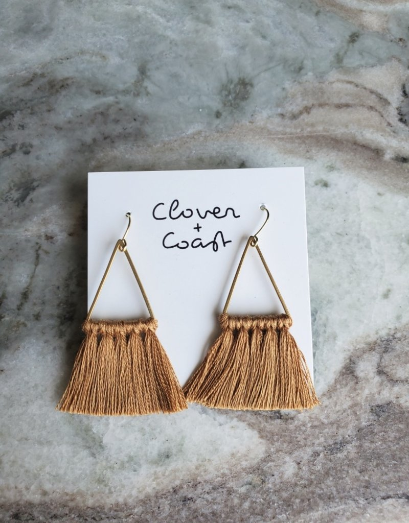 Clover + Coast Clover - Triangle Fringe Gold