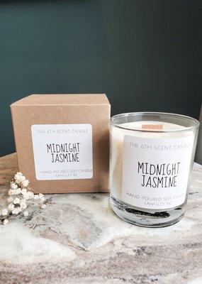 6S - Medium Jar/Wood/Midnight Jasmine
