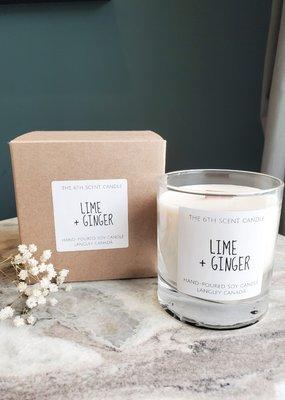 6S - Large Jar/Wood/Lime + Ginger
