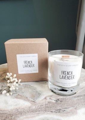 6S - Medium Jar/Wood/French Lavender