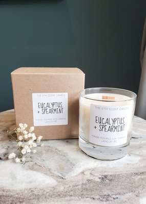 6S - Medium Jar/Wood/Eucalyptus + Spearmint