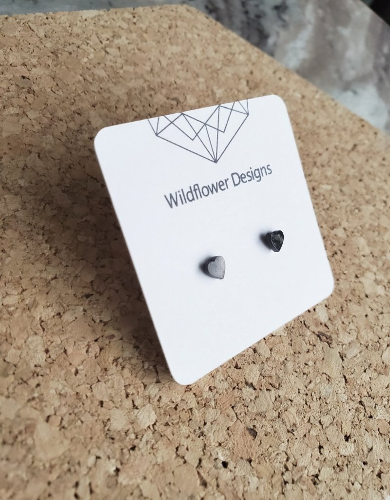 WFD - Black Heart Studs