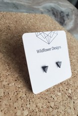 WFD - Black Triangle Studs