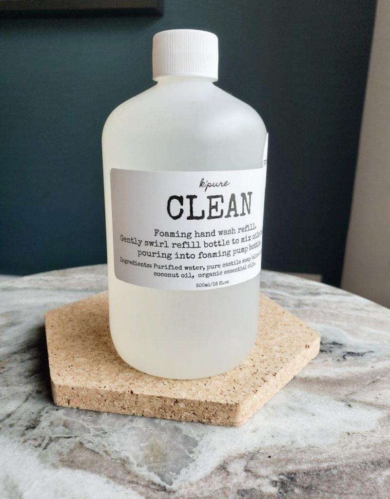 Kpure - Clean Hand Wash Peppermint 500ml