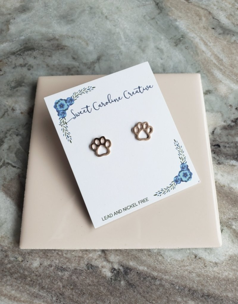 SCC - Paw Outline Studs