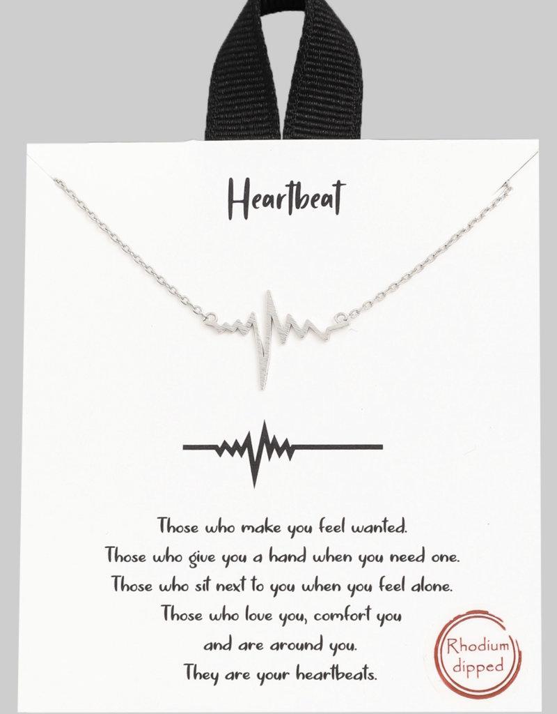 Heartbeat Pendant Necklace
