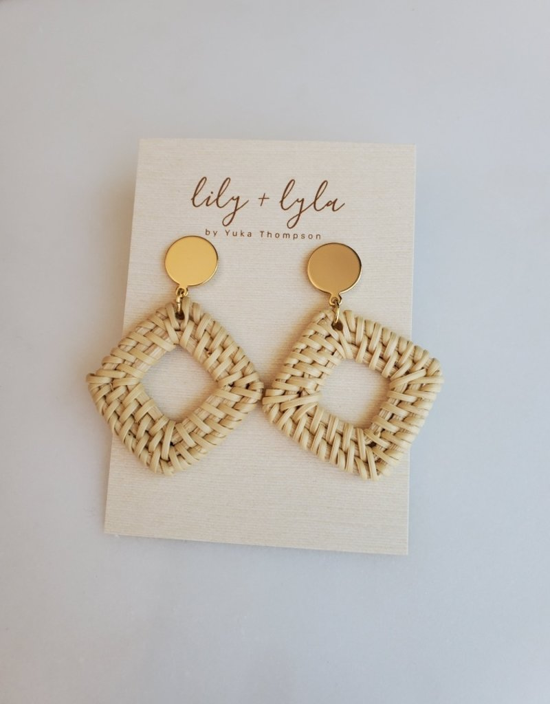 Lily and Lyla Designs LL - Diamond Rattan Earrings