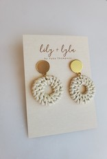 Lily and Lyla Designs LL - Round Rattan Earrings