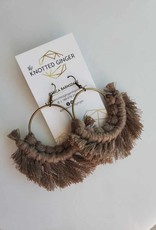 Knotted Ginger KG - Taupe Brass Circle