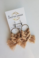 Knotted Ginger KG - Tan Brass Hammered Circle