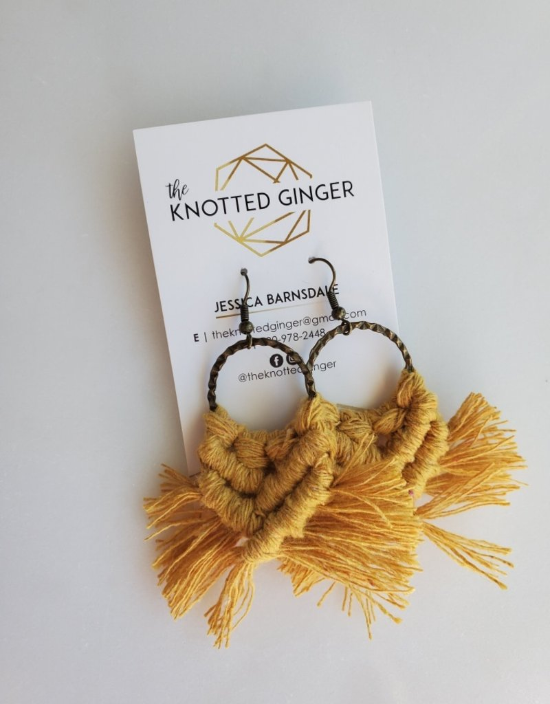 Knotted Ginger KG - Mustard Brass Hammered Circle